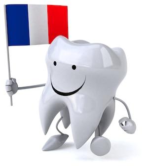 Animação divertida de dente