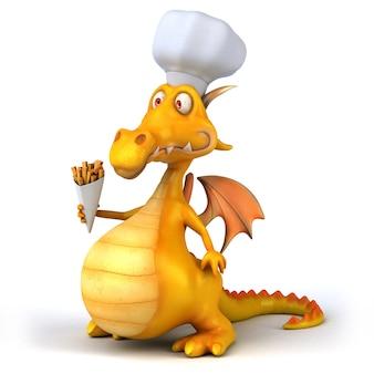 Animação divertida de dragão