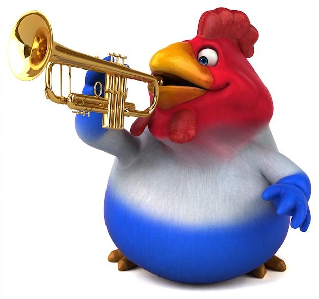 Animação divertida de frango