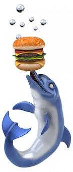 Animação divertida de golfinhos