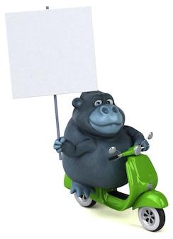 Animação divertida de gorila