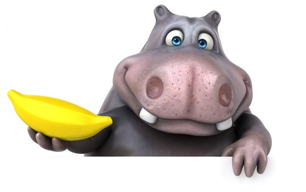 Animação divertida de hipopótamo