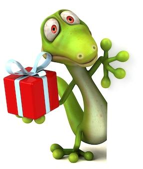 Animação divertida de lagarto