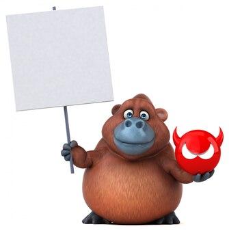Animação divertida de orangotango