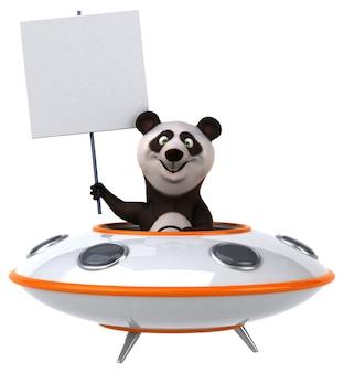 Animação divertida de panda