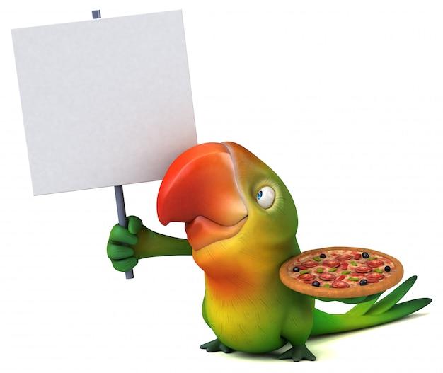Animação divertida de papagaio