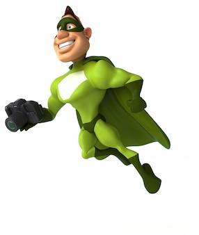 Animação divertida de super-heróis