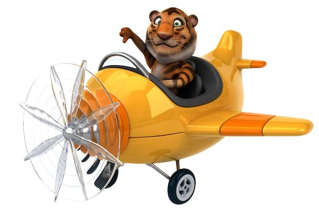 Animação divertida de tigre