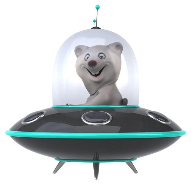 Animação divertida de urso