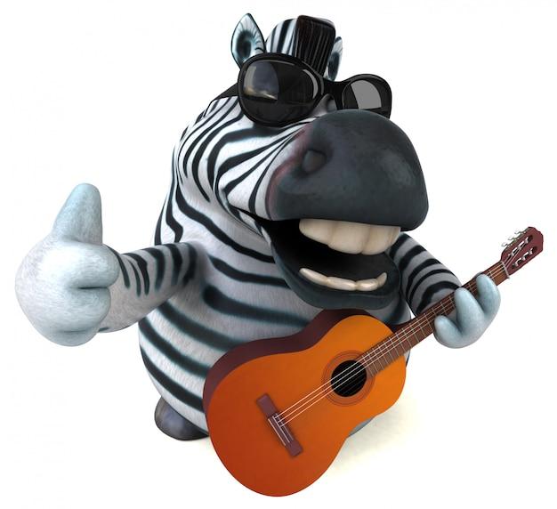 Animação divertida de zebra