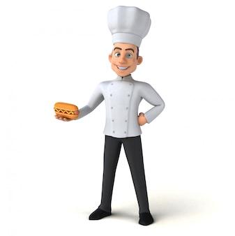 Animação divertida do chef
