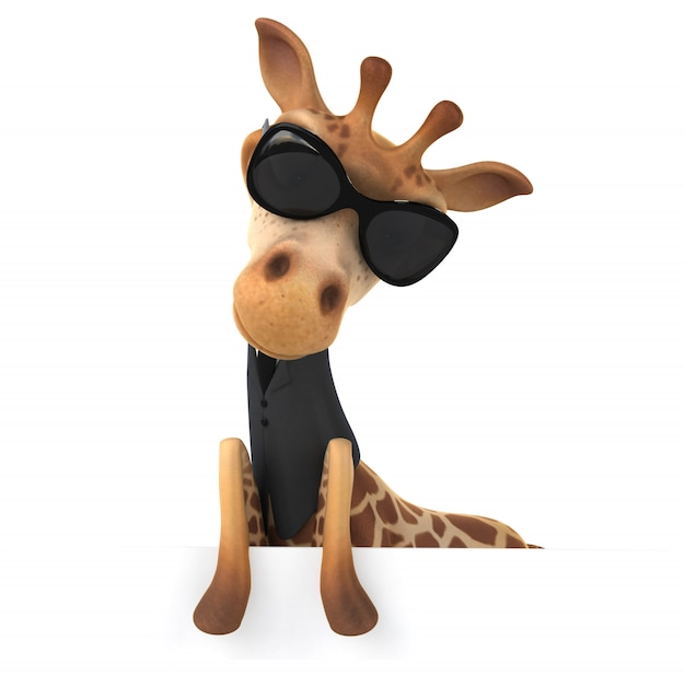 Animação divertida girafa