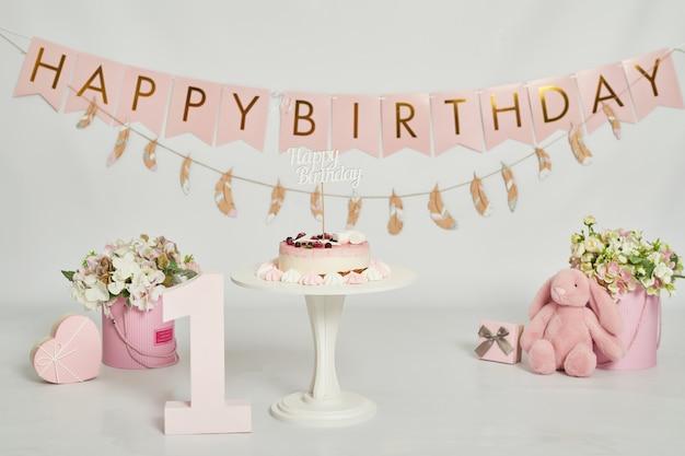 Aniversário 1 ano cake smash decor