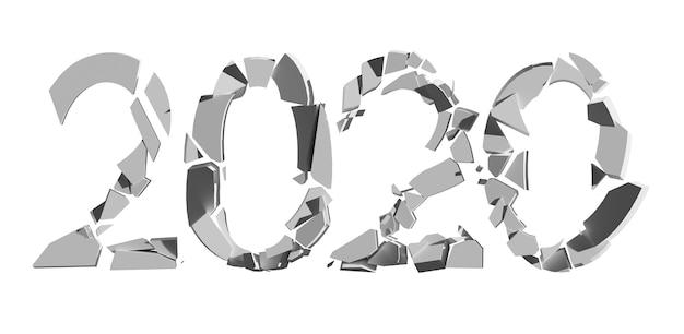 Ano e 2020 promovidos para as tendências de 2021 em isolado de fundo branco. foto de alta qualidade