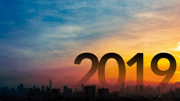 Ano novo 2019 fundo.