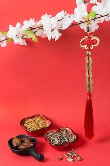Ano novo chinês com biscoitos da sorte