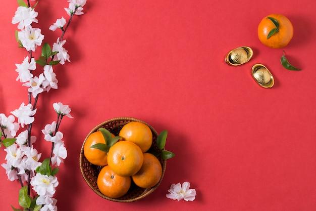 Ano novo chinês com mandarinas