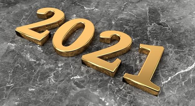 Ano novo com número de ouro