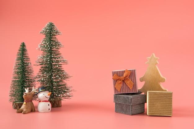 Ano novo de natal com fundo presente presente celebrar o tempo de feliz ocasião especial
