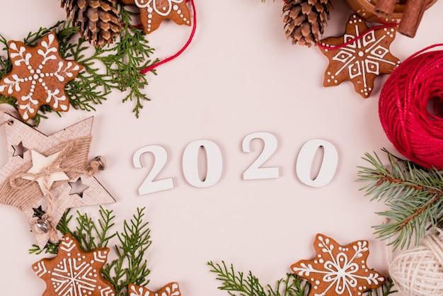 Ano novo e decoração de natal