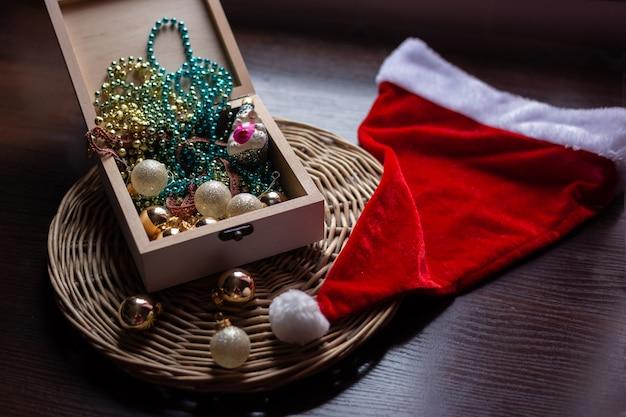 Ano novo e natal conceito ainda vida foto