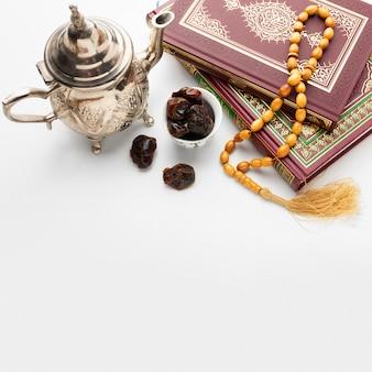 Ano novo islâmico conceito com espaço de cópia
