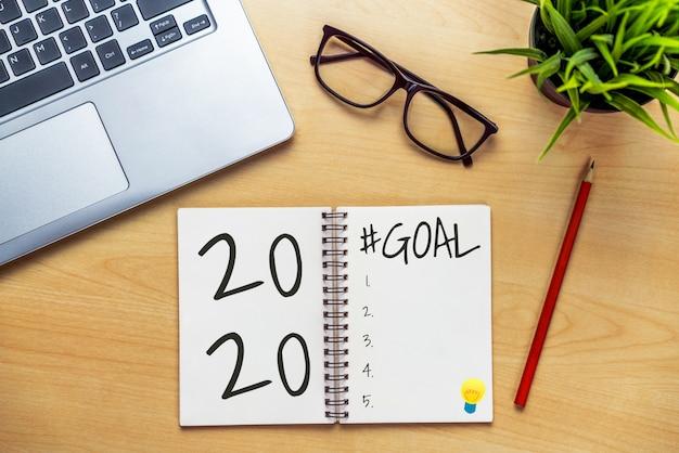 Ano novo resolução meta lista 2020 meta definição