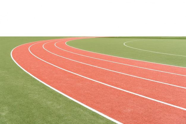 Antecedentes da pista de atletismo, com área em branco.