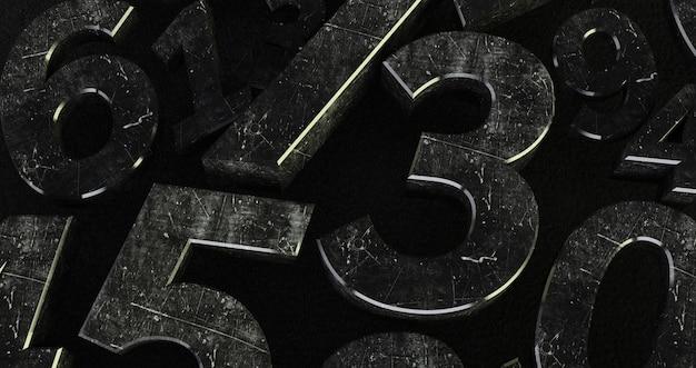 Antecedentes de números. de zero a nove. números abstratos