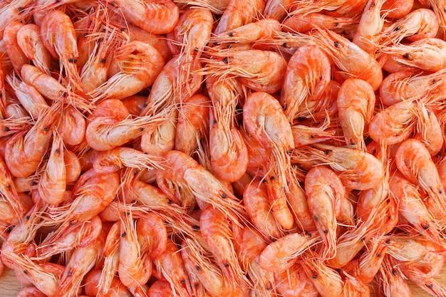 Antecedentes muito camarão. vista do topo.