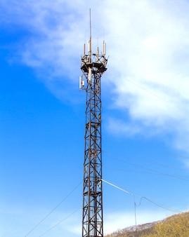 Antena de comunicação via satélite