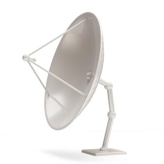 Antena parabólica isolada em fundo branco