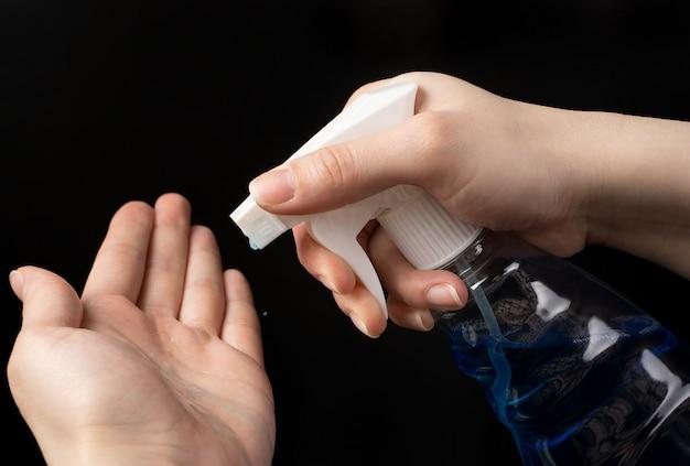 Anti-séptico de mão médica e agente de limpeza.