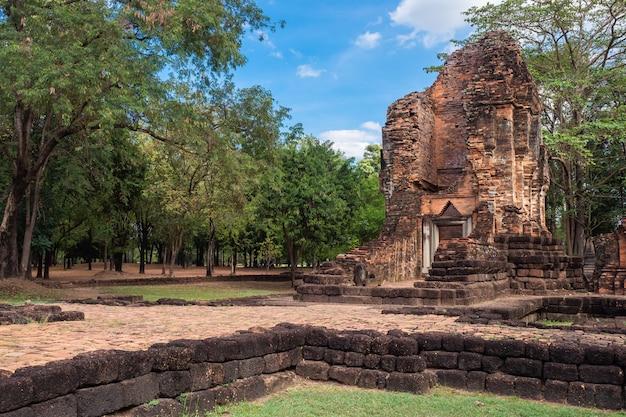 Antiga, arquitetura, de, si, thep, histórico, parque, thawarawadee, reino, tailandia