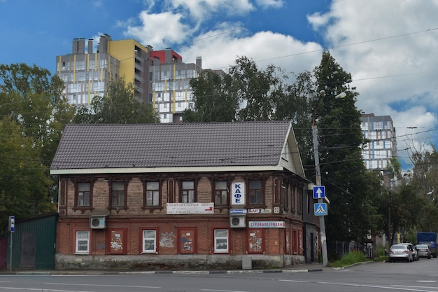 Antiga casa de madeira. nizhny novgorod