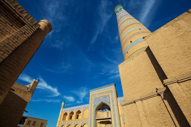 Antiga cidade de khiva, uzbequistão.