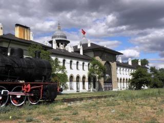 Antiga estação ferroviária, em edirne, turquia