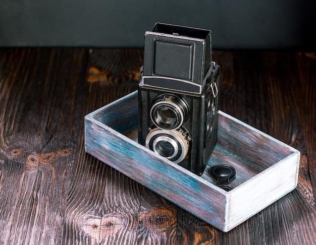 Antiga moda antiga câmera