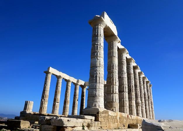 Antiga, templo, de, poseidon, em, capo, sunio, em, ática, grécia