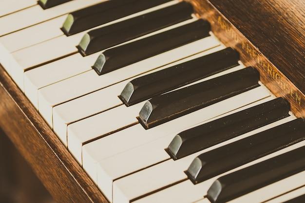 Antigas teclas de piano vintage