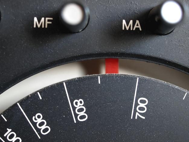 Antigo am - sintonizador de rádio fm