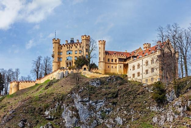 Antigo castelo hohenschwangau na alemanha
