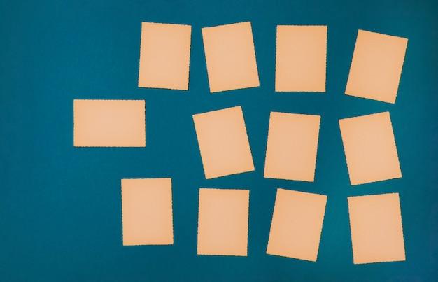 Antigo conjunto de papel vintage azul conjunto de cartões