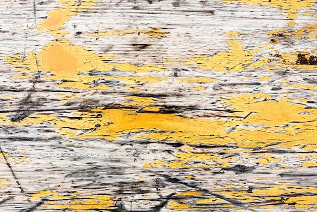 Antigo design de plano de fundo texturizado de madeira amarelo