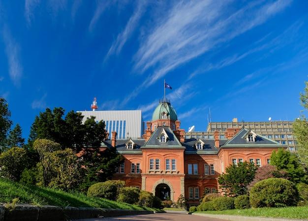 Antigo escritório do governo de hokkaido, um edifício histórico e marco em sapporo