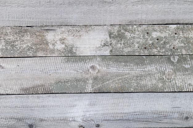 Antigo fundo cinza rústico de madeira vintage. fundo resistido das pranchas de madeira do celeiro.