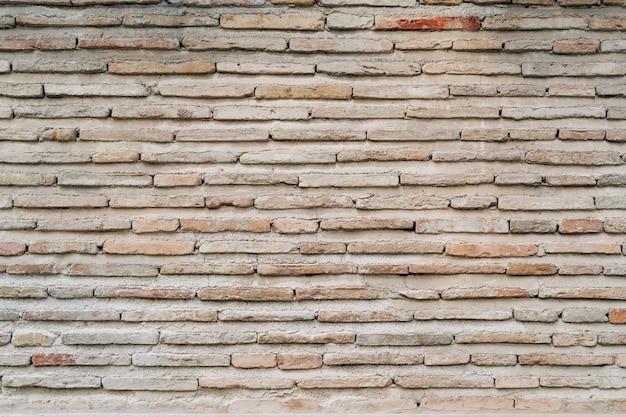 Antigo fundo da parede de tijolo, amplo panorama de alvenaria
