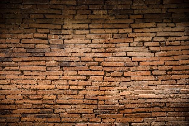 Antigo fundo de decadente de parede de tijolo antigo