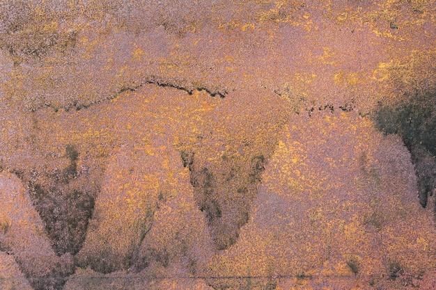 Antigo fundo de metal enferrujado, textura.