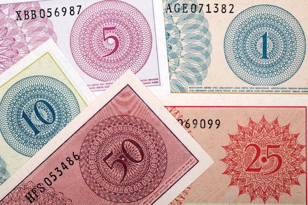 Antigo fundo de negócios de dinheiro indonésio